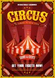 Vintage Circus Poster With Big Top stock image