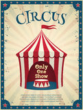 Vintage circus poster Royalty Free Stock Photo