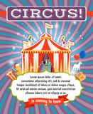 Vintage circus poster template Royalty Free Stock Photos