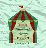 Vintage circus poster for your advertising Stock Photos