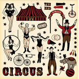 Vintage Circus Set Stock Images