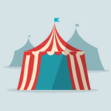 Vintage circus tent flat design Stock Images