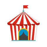 Vintage circus tent flat icon Stock Images