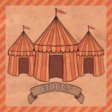 Vintage circus tent Stock Photo