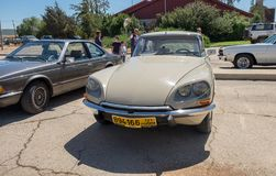Vintage Citroen DS Dsuper car presented on oldtimer car show, Israel stock photography