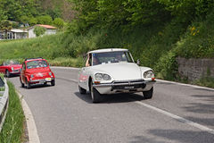 Vintage Citroen DS. Vintage french car Citroen DS in rally for classic cars Raduno colline di cristallo on May 1, 2013 in Borgo Rivola, Ravenna, Italy Stock Photo