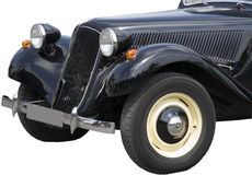 Vintage Citroen - French Car. Front with Wing, Headlights and Grille Stock Photography