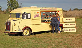 Vintage citroen snack wagon Stock Photo