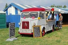 Vintage citroen tea shop on wheels Royalty Free Stock Photos