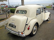 Vintage citroen wedding car Royalty Free Stock Images