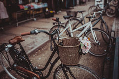 Vintage city bicycle in Copenhagen Royalty Free Stock Photography
