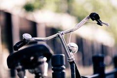 Vintage City Bike Colorful Retro Light And Handlebar Stock Image