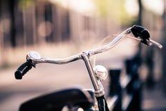 Vintage city bike colorful retro light and handlebar Royalty Free Stock Photo