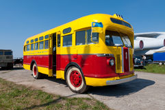 Vintage city bus ZIS -155 produced from 1947 to 1957 Royalty Free Stock Photo