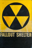 Vintage Civil Defense Fallout Shelter Refuge Sign Stock Photos