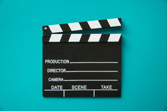 The vintage clapperboard. Royalty Free Stock Photos