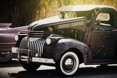 Vintage and classic american 50's car. Hot rod style. Royalty Free Stock Image