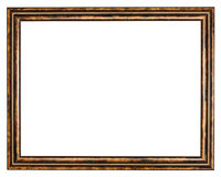 Vintage classic brown wooden picture frame Stock Photography