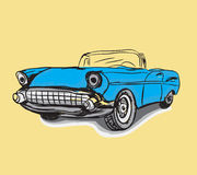 Vintage Classic car drawing Royalty Free Stock Photography