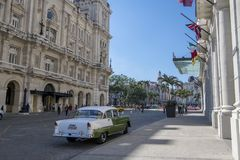 Vintage classic car in Havana, Cuba. American classic car in the street of Havana, Cuba Stock Image