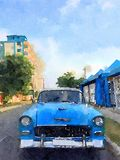 Vintage classic car in Havana stock photography