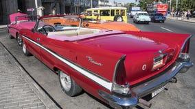 Vintage classic cabriolet in Havana, Cuba Stock Photos