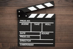 Vintage classic clapperboard Stock Images