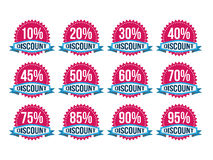 Vintage Classic Discount Badges Royalty Free Stock Image