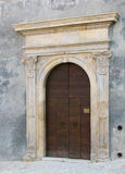 Vintage classic door. In the old italian house stock photo