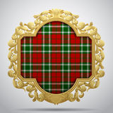 Vintage classic frame with tartan background Royalty Free Stock Image