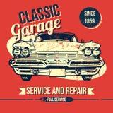 Vintage Classic Garage Design Royalty Free Stock Photo