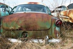 Vintage Classic Old Car, Junkyard royalty free stock image