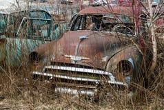 Vintage Classic Old Car, Junkyard stock image