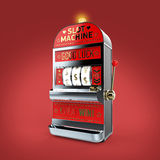 vintage classic slot machine with currency symbols reels. isolated  on color background  render Stock Photography