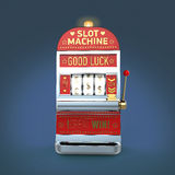 Vintage classic slot machine with currency symbols reels. isolated  on color background  render Royalty Free Stock Photography