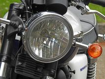 Vintage classic triumph bonneville motorcycle motorbike bikes two wheels british. Photo of front detail to vintage classic british triumph bonneville motorcycle stock image