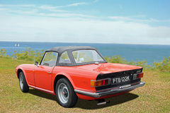 Vintage classic triumph tr6 Royalty Free Stock Images