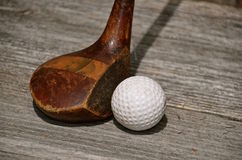 Vintage classic wood golf driver Stock Photos