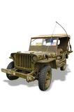 Vintage Classic WWII Jeep Royalty Free Stock Photography