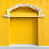 Vintage and classic yellow door and window Royalty Free Stock Image