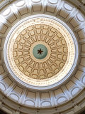 Vintage classical architecture and rotunda. Upward view of Texas capitol rotunda in Austin, TX Stock Photos