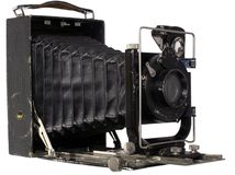 Vintage classical camera . Stock Photo