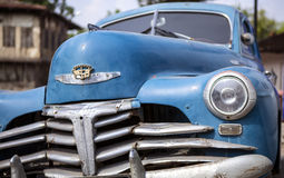 Vintage Classical Car. Close-up view of a blue vintage classical car Royalty Free Stock Photography
