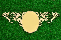 Vintage classical frame on green plant Royalty Free Stock Photo