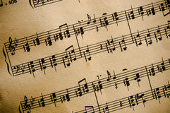 Vintage Classical Music Score Royalty Free Stock Photography
