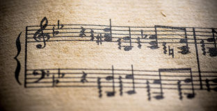 Vintage Classical Music Score Stock Images