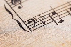 Vintage Classical Music Score Stock Photos