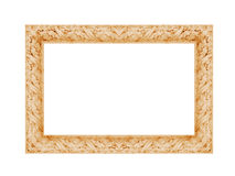 Vintage classical photo frame isolated on white background Stock Photography