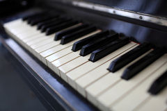 Vintage classical piano keys Stock Photos