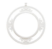 Vintage classical white circle frame Royalty Free Stock Photography